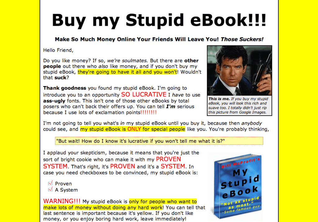 Buy my stupid ebook