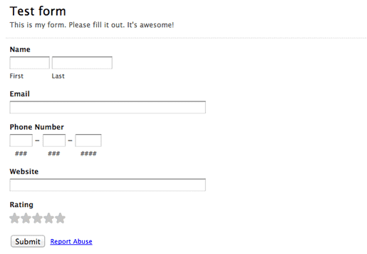 Final result! The tool shows up in your website (this is a form from Woofu).