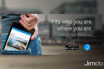 Fits who you are, where you are. Jimdo for Android.