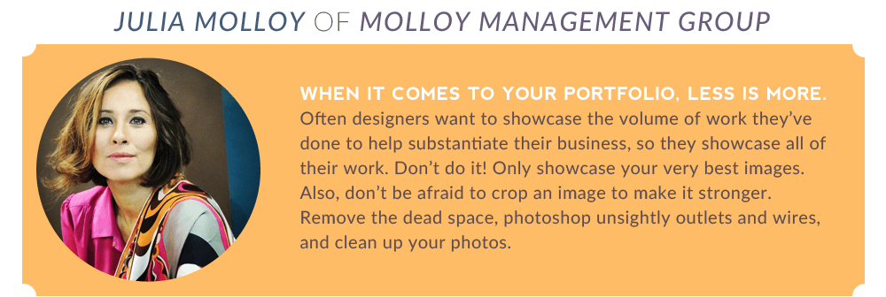 Julia Molloy When It Comes To Your Portfolio Less Is More