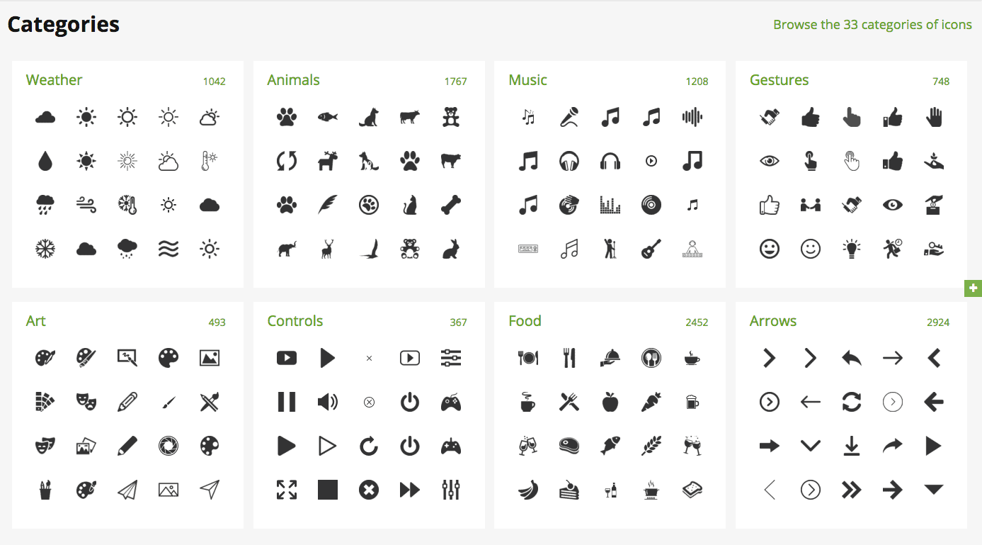 Flaticon.com has a huge marketplace of icons for your website.