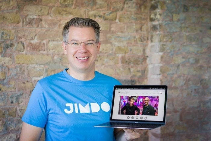 Frank Thelen on his Jimdo Website