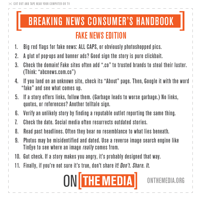 Tips for spotting fake news
