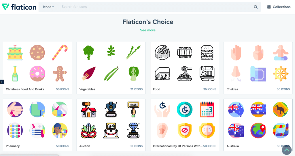 Just a sampling of the icon sets available at Flaticon.