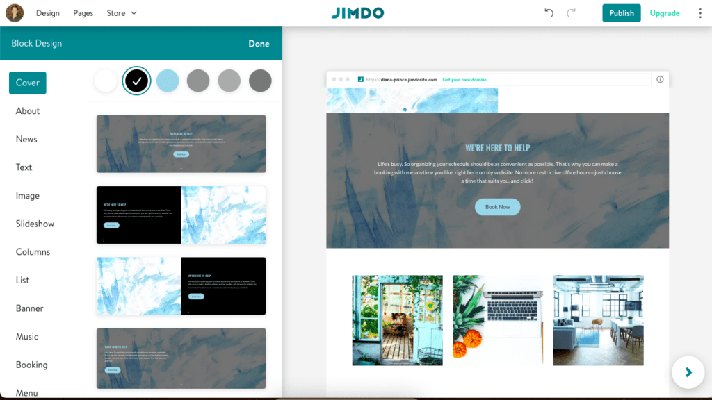 How to change the style of a button on your Jimdo website