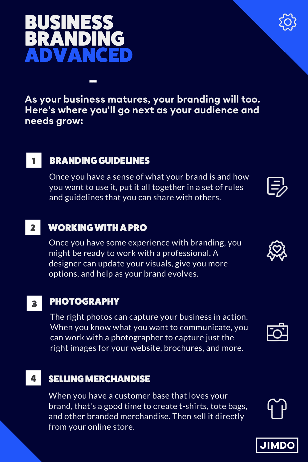 As your business matures, your branding will too. Here's where you'll go next as your audience and needs grow.