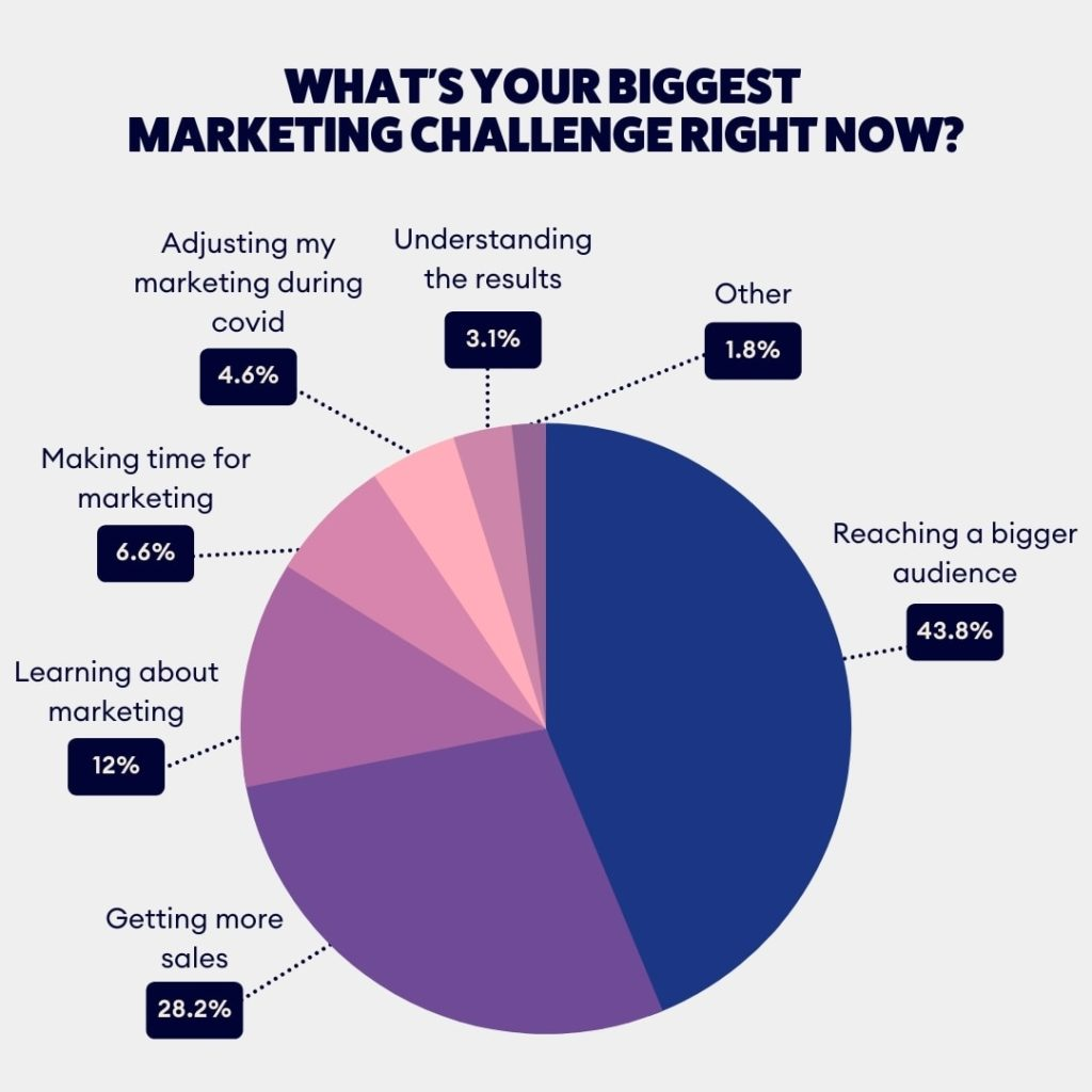 Survey results on marketing challenges