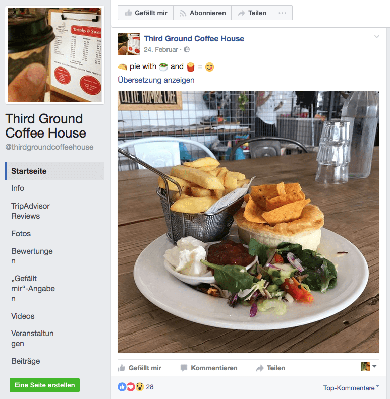 social media strategy facebook example
