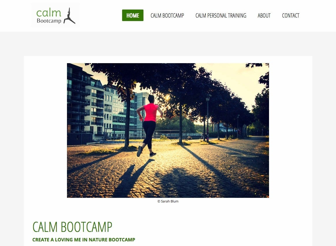 Website Calm Bootscamp